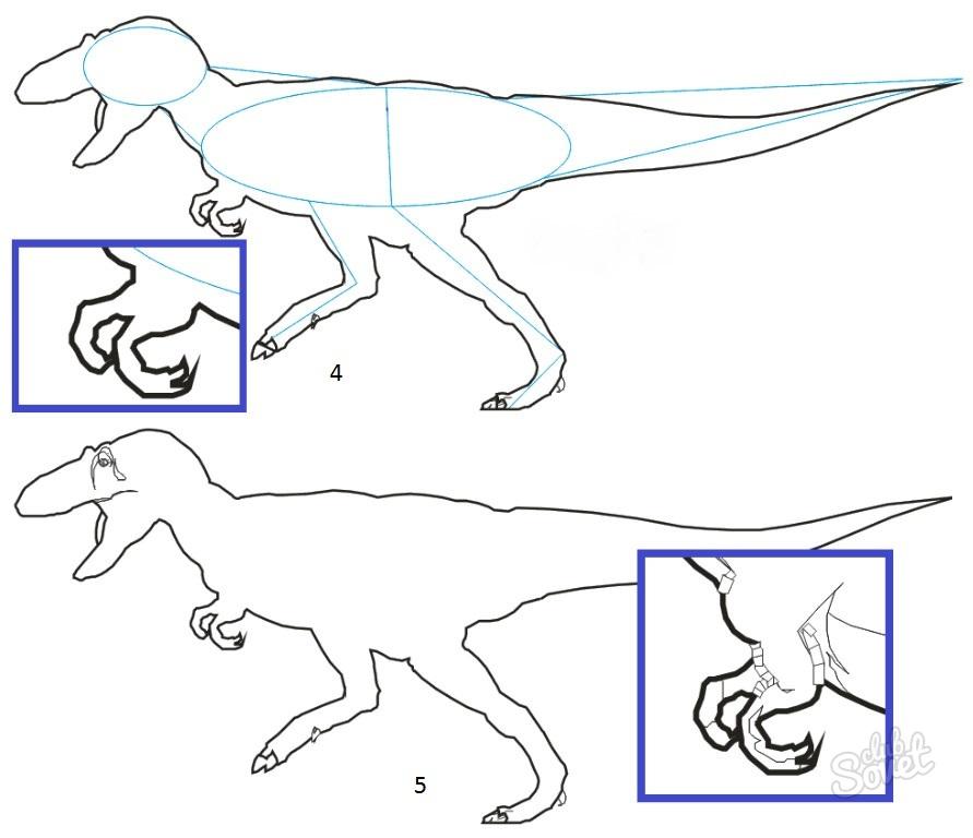 картинки динозавров поэтапно карандашом для вполне