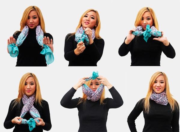 Как завязать шарф на шее красиво, способы, одинарный ...