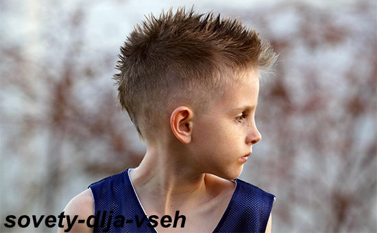 причёска ёжик для мальчиков