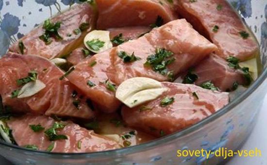 рыба барбекю в маринаде