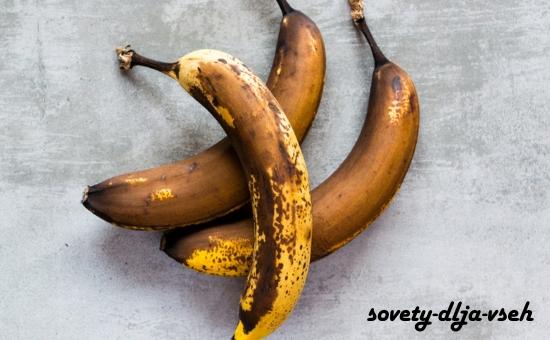 что делать с перезревшими бананами