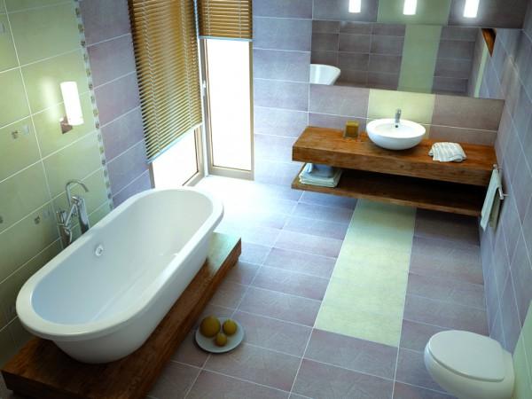 Дизайн плитки в ванной комнате — фото и видео обзор