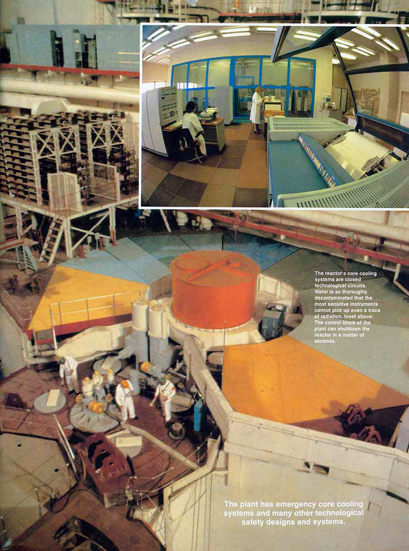 The plant has emergency core cooling systems and many other technological safety designs and systems.