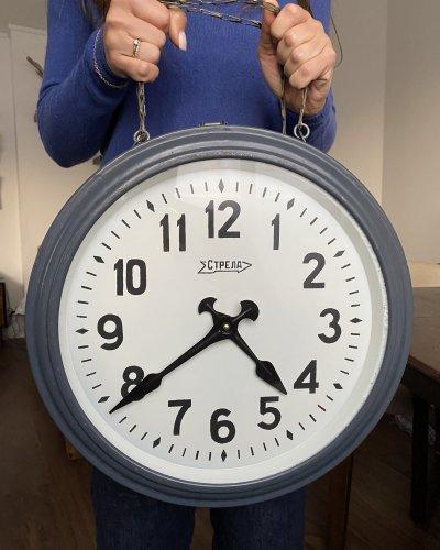 Horloge de Gare Soviétique – Double Face Strela