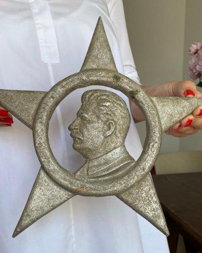 Bas relief Aluminium URSS Staline
