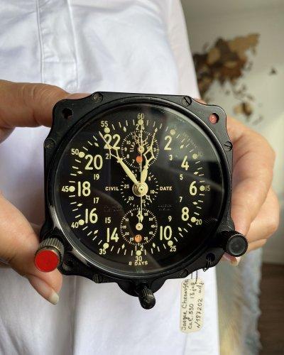 Horloge Bord Jaeger – Chronographe – Lend-Lease – 8 Jours