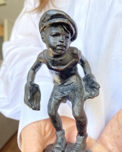 Gardien de Foot – Sculpture – Enfant – Fonte – URSS