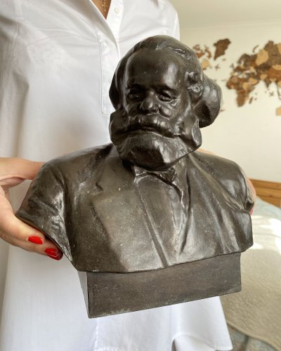 Sculpture Karl Marx – Communisme – 1961 – Karbel