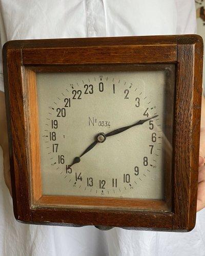 Horloge Marine en Bois CHMD – 24 Heures – Sous Marin Diesel