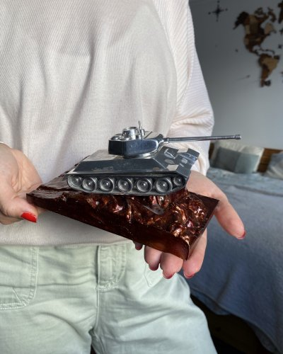 Modèle Réduit Tank Aluminium