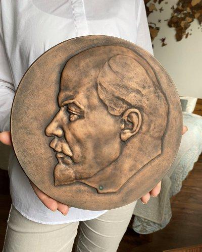 Bas Relief Lénine Bronze – Sculpteur Lerner