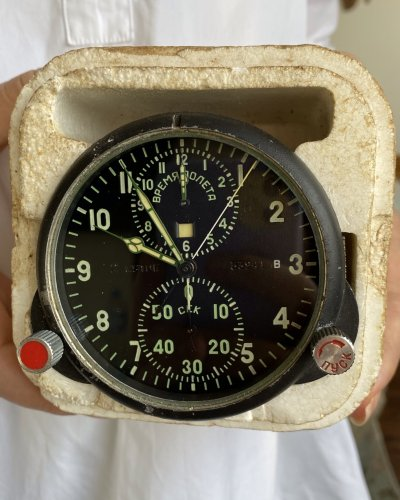 Horloge de Cockpit Soviétique – Neuve – numéro 33941
