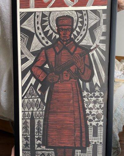 Linogravure – Evolution Armée rouge – 1967
