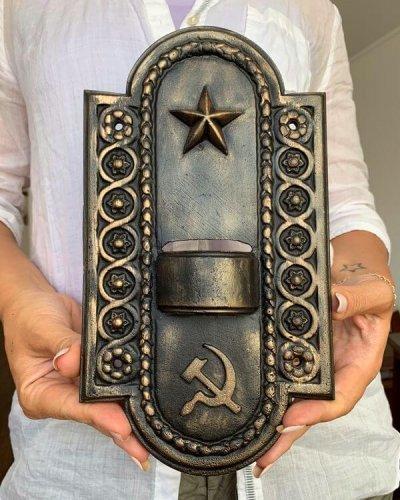 Chandelier Soviétique Faucille Marteau – Aluminium