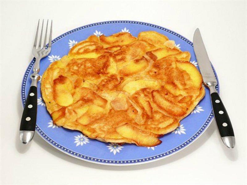 яблочный омлет