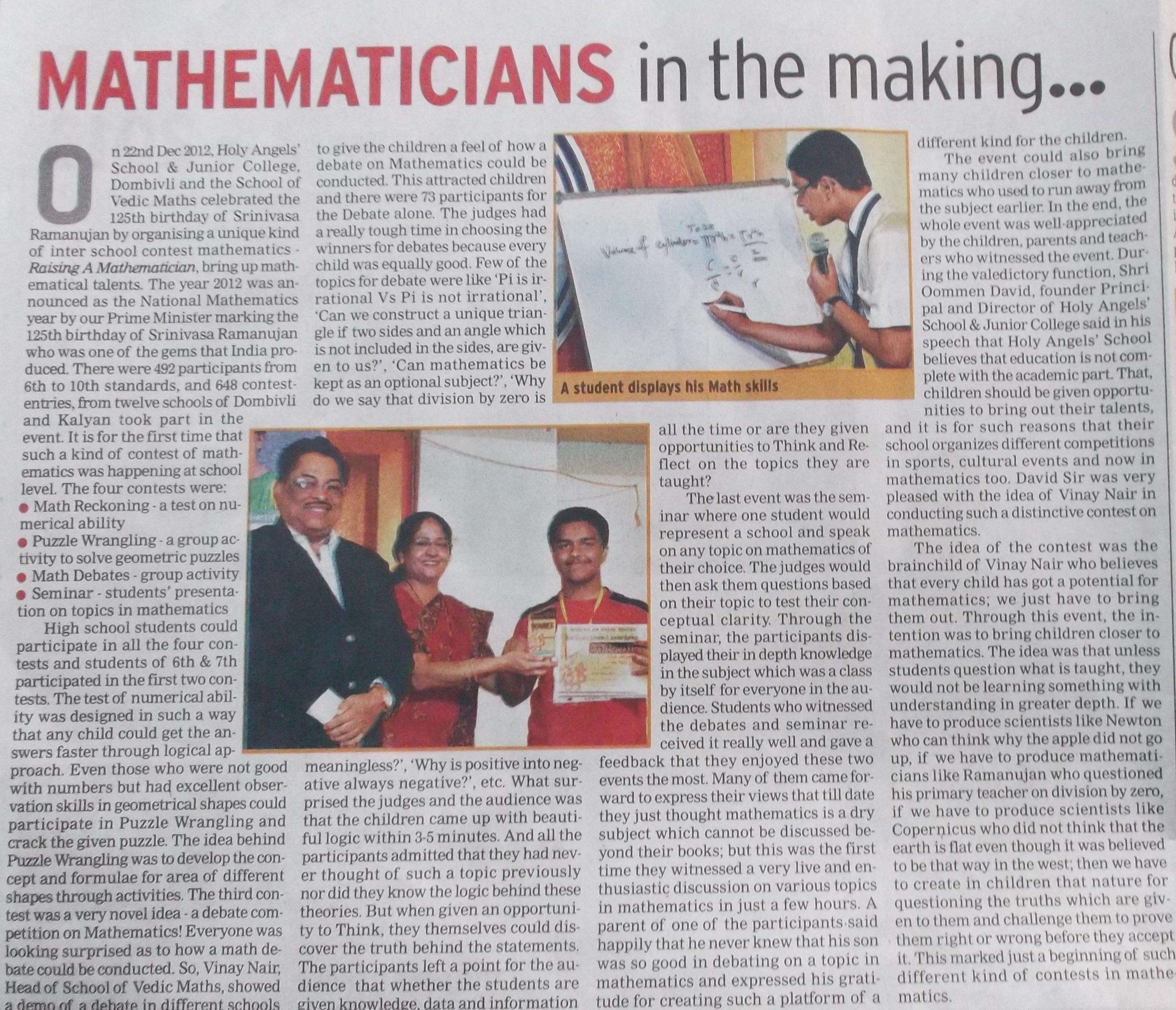 Raising A Mathematician Contest