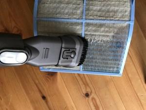 エアコンお掃除を自分でまずはフィルターから