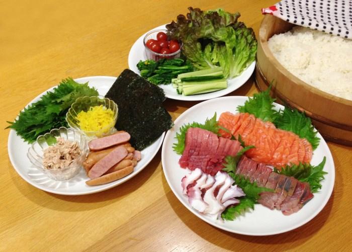 敬老の日のお祝いにはちらし寿司?手巻き寿司?