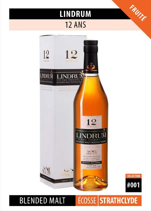 Fiche Dégustation Whisky : Lindrum – 12 ans