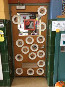 Spider Webs on Classroom Door