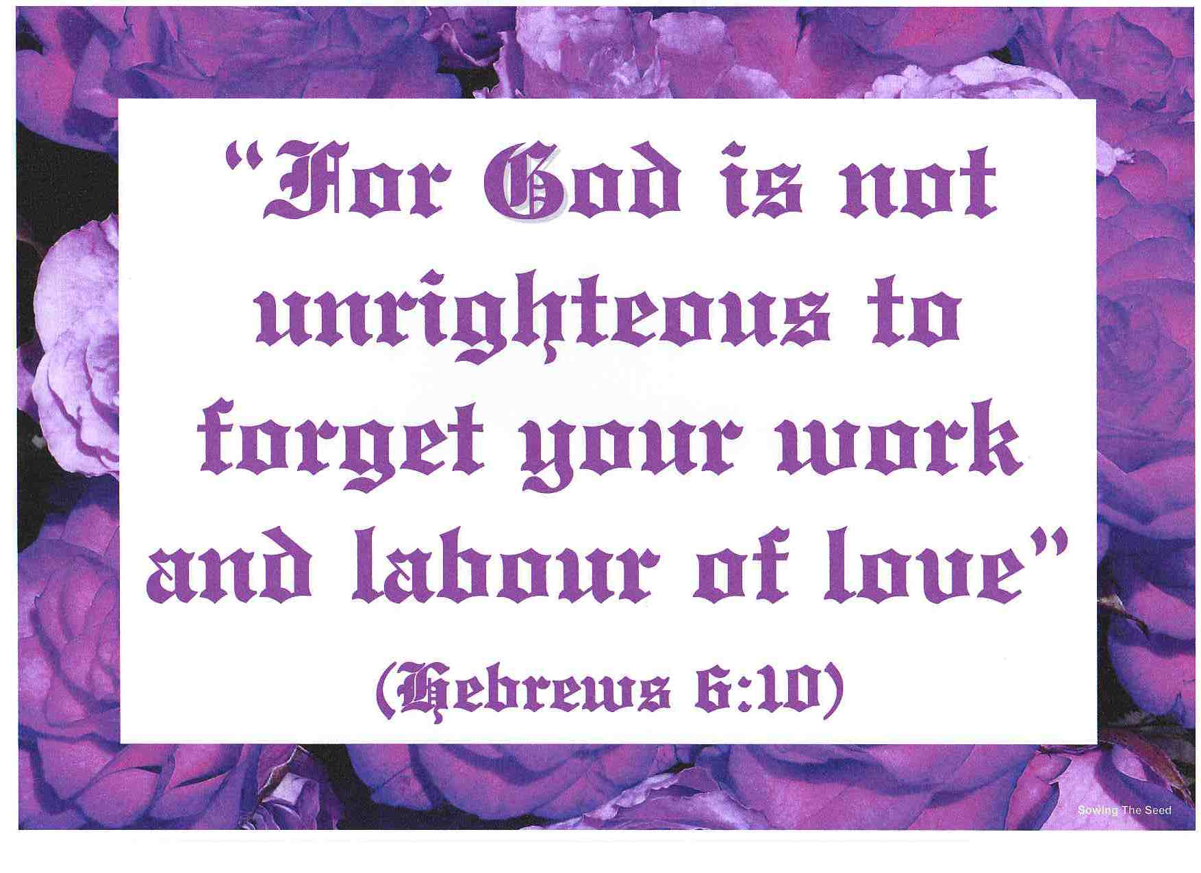 The Lord Is Not Unrighteous