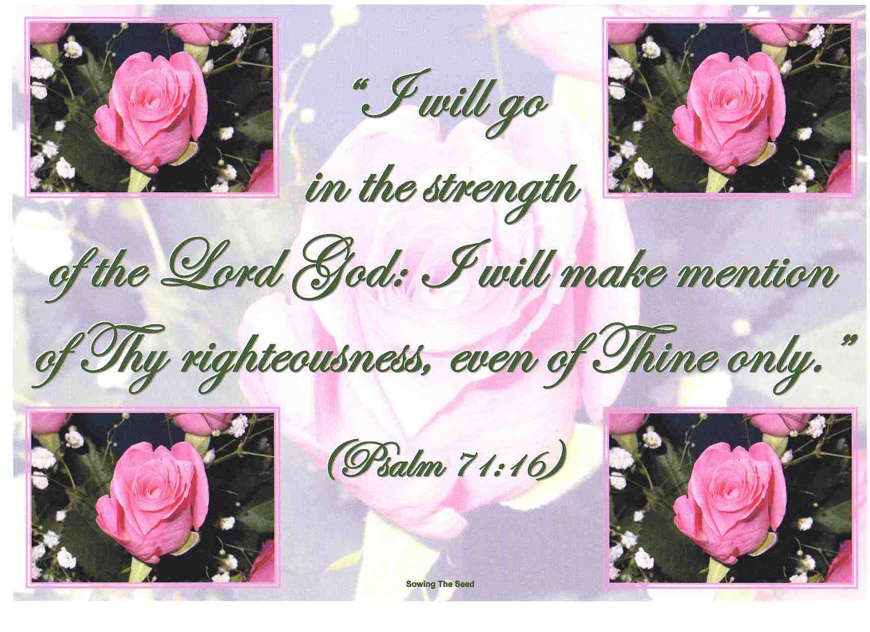 The Strength Of The Lord God