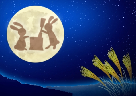 お月見、手遊び、十五夜