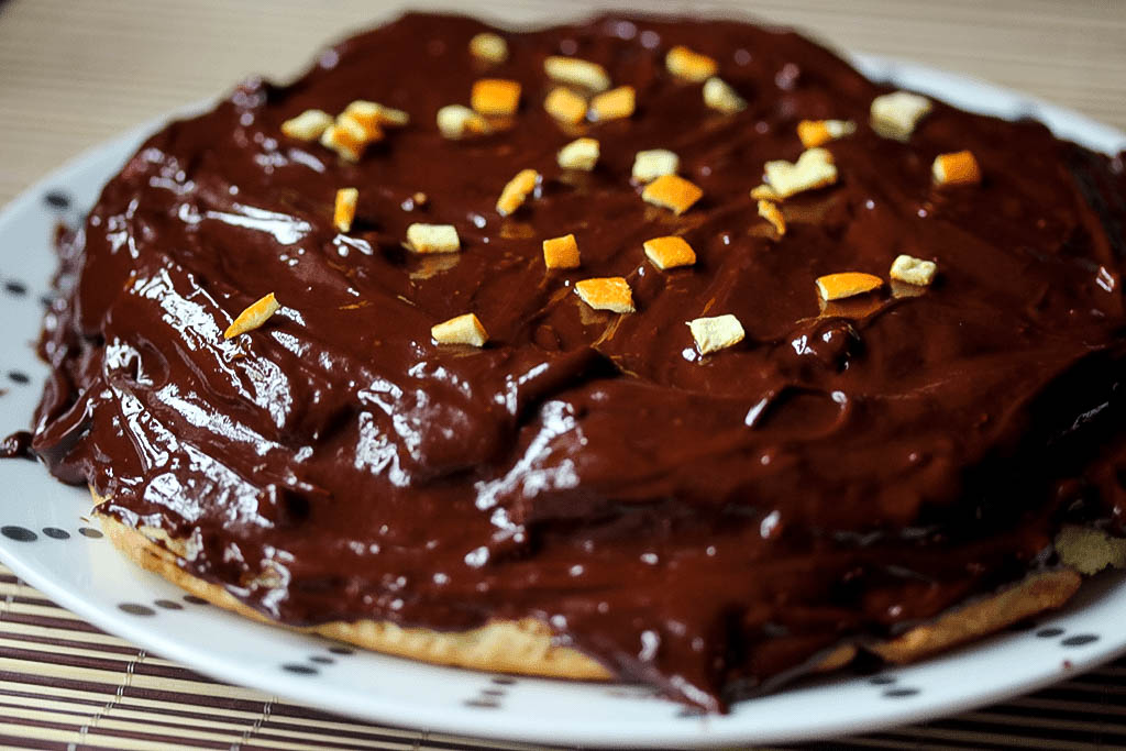 Vegan jaffa cake