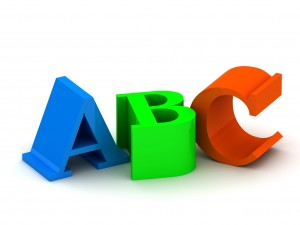 3D letters ABC (The image can be used as background for printing and web)