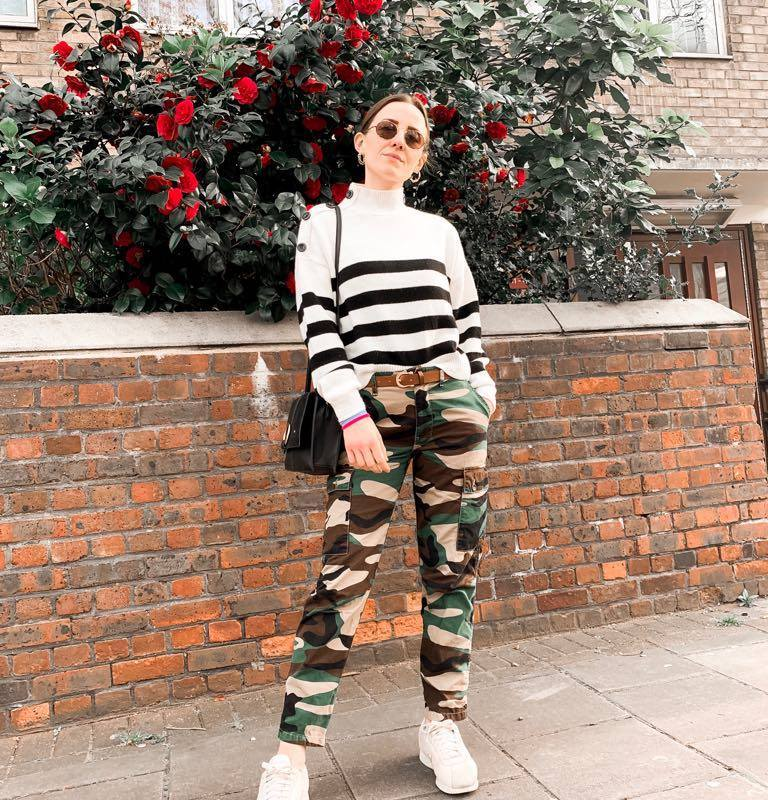 pair of camouflage pants