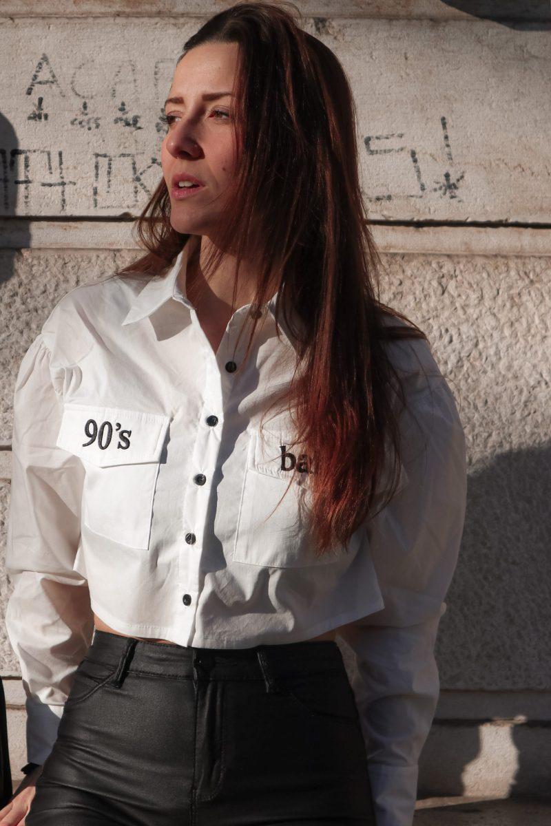 Camicia Bianca Crop-Top