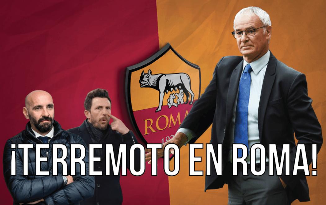 Terremoto en Roma: Di Francesco y Monchi fuera; llegará Ranieri