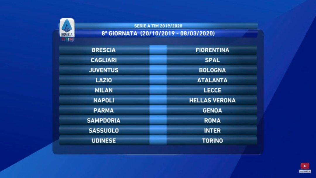 Calendario Seroe A.Oficial I Calendario Serie A 2019 20