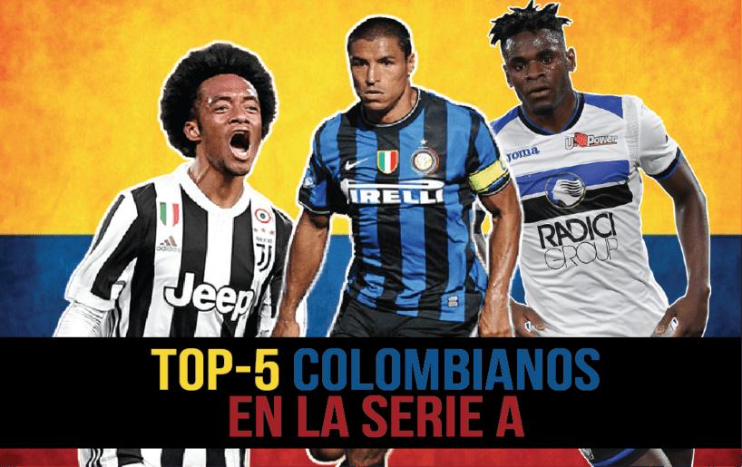 Los cinco mejores futbolistas colombianos de la Serie A