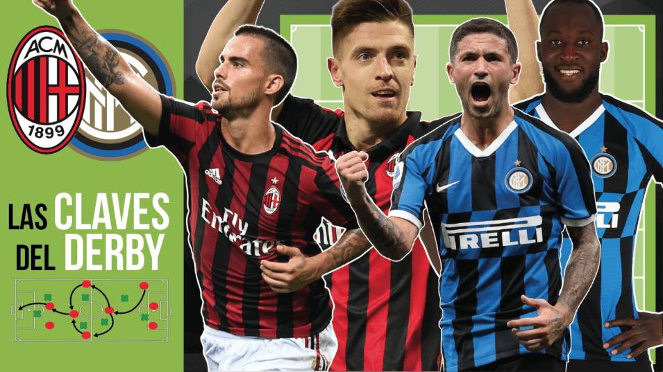 La pizarra I ¿Cómo jugarán Milan e Inter en el Derby?