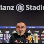 Sarri: «Echamos mucho de menos a Chiellini»