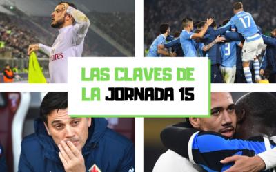Análisis de la jornada 15: La Lazio sorprende y la Juventus cae
