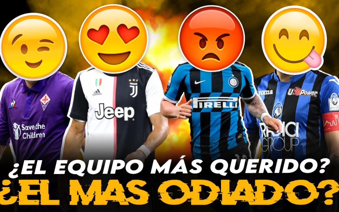 ¿Cuál es el equipo más querido de Italia? ¿Y el más odiado?