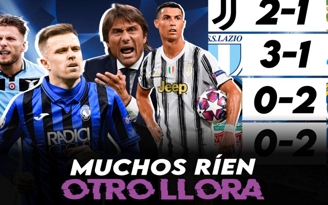 El Inter se hunde; Atalanta, Lazio y Juventus, ganan