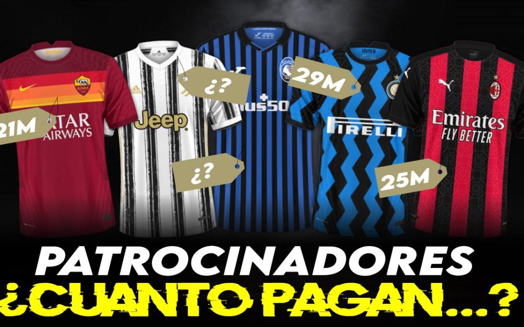 ¿Cuánto ganan los equipos italianos por sus patrocinadores?