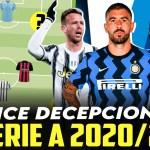El once de decepciones de la Serie A 2020/21