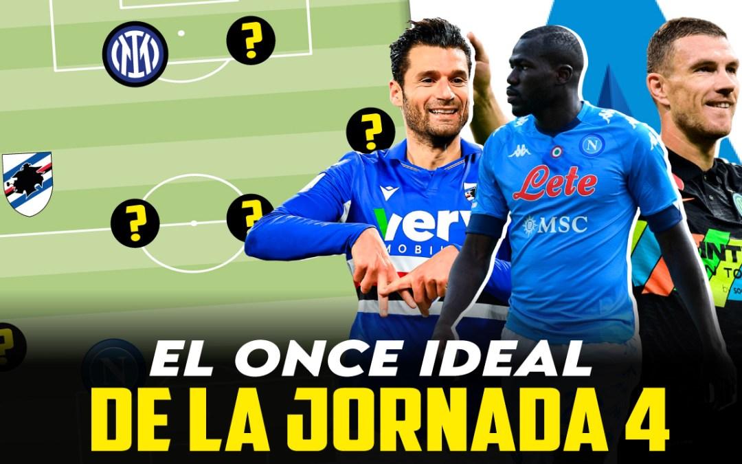El once ideal de la jornada 4 en la Serie A
