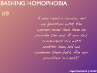 We care more about things that are different to us like homo- and bisexuality than we do about the more serious matters like rape.