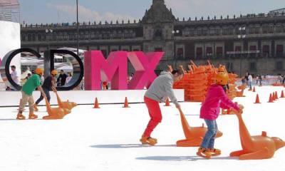 pistas de hielo en la CDMX, navidad, zócalo
