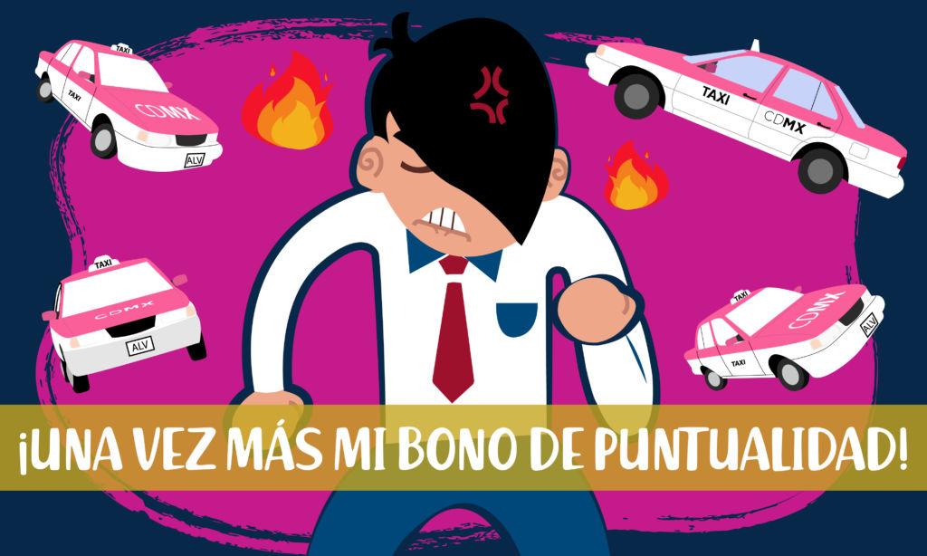 Nueva movilización de taxistas en CDMX
