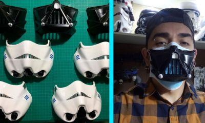 Para regresar a la oficina crean cubre mascarillas de Star Wars