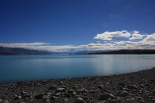 Sun rays over Lake Pukaki