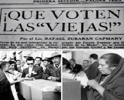 Imágenes y video para recordar los 65 años del voto femenino en México