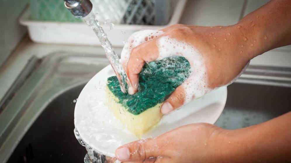 Tips para combatir las bacterias y virus en tu fibra de lavar trastes