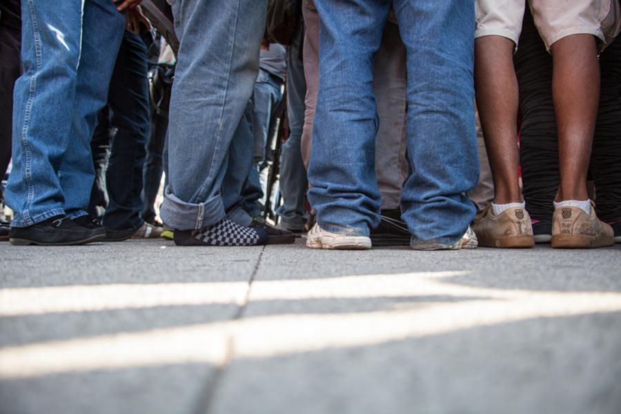 Las familias que vienen en las caravanas de migrantes